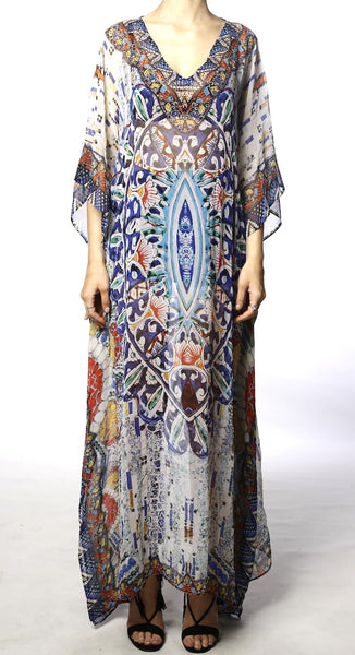 Pretoria Long Round Neck Kaftan - OSFM
