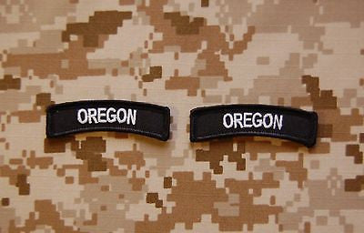 Oregon State Tab Patch Set - Black & White