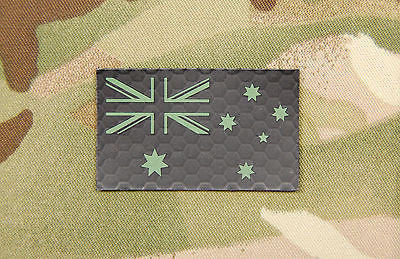 Infrared Mini Australian Flag Patch - Green & Black