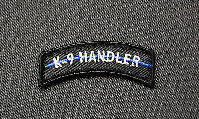 K9 Handler Thin Blue Line Tab Patch K-9