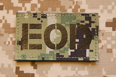 Infrared NWU Type III IR EOD Call Sign Patch