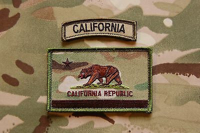 Multicam California State Flag Patch & MC Tab Set