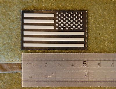 Mini US IR Flag Patch - Tan & Black