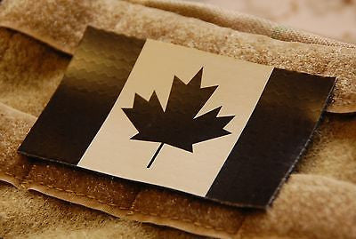 Infrared Canadian Flag Patch - Tan & Black
