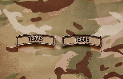 Texas State Tab Patch Set - Multicam