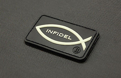 Infidel Christian Fish GITD 3D PVC Morale Patch