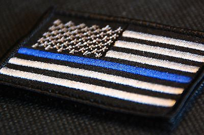 Thin Blue Line United States Flag Patch - Iron On
