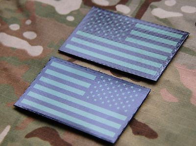 Infrared US Flag Patch Set -  Green & Black