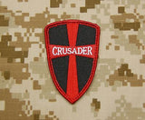 Crusader Cross Shield Morale Patch - Black & Red