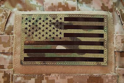 "Large Infrared Multicam IR US Flag Patch - 5"" x 3"""