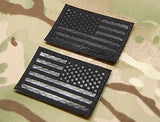 Infrared Blackout US Flag Patch Set