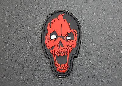 Zombie Head 3D PVC Morale Patch