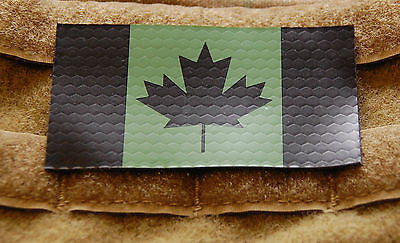 Infrared Canadian Flag Patch Set - Green & Black