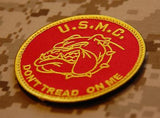 USMC Don't Tread On Me Morale Patch - Red & Gold