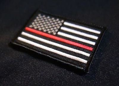 Thin Red Line United States Flag Patch - Iron On