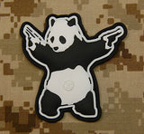 Panda With Guns 3D PVC Morale Patch
