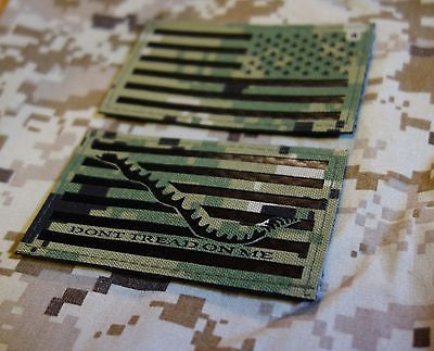 IR NWU Type III Reverse US Flag & First Navy Jack Patch Set