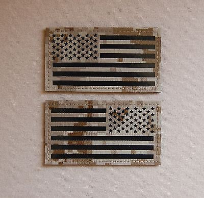 Infrared NWU Type II / AOR1 IR US Flag Patch Set