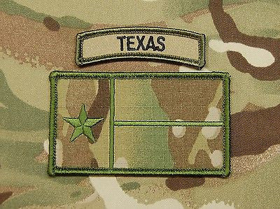 Multicam Texas State Flag Patch & MC Tab Set