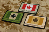 Canadian These Colours Don't Run Woven Morale Patch Set