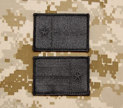 Blackout Texas State Flag Lone Star State Morale Patch Set