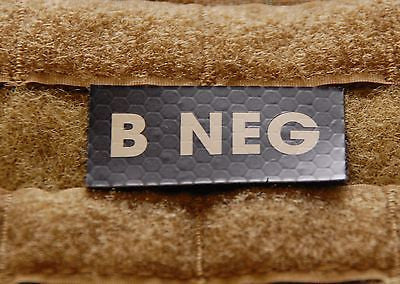 Infrared B NEG Blood Type Patch