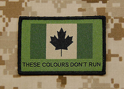 Canadian These Colours Don't Run Woven Morale Patch - Temperate