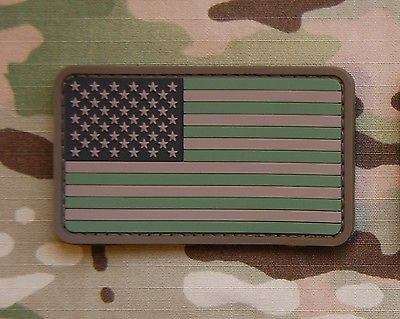 USA US Stars & Stripes Flag Patch Multicam Woodland ACU Velcro PVC Patch