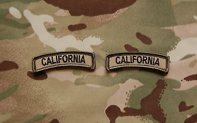 California State Tab Patch Set - Multicam