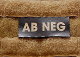 AB NEG Blood Type IR Patch