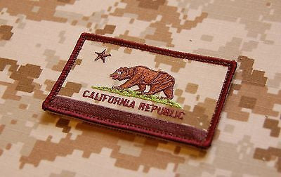 AOR1 California State Flag Embroidered Morale Patch