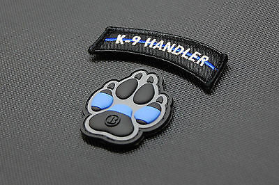 K9 Thin Blue Line Police Dog Handler Patch Set