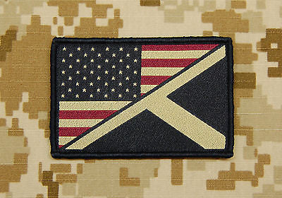 Subdued US/Scotland Stars & Stripes/St. Andrew's Friendship Flag Patch
