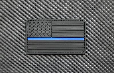 "8"" X 3"" Woven POLICE Placard Patch-Black & White"