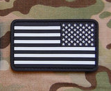 USA US Stars & Stripes Reverse Flag Patch Glow In The Dark GITD Velcro PVC Patch