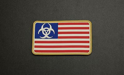 Biohazard Flag 3D PVC GITD Morale Patch