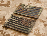 Infrared Kryptek Mandrake IR US Flag Patch Set