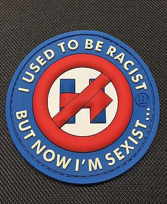 No To Hillary - I Used To Be Racist Morale GITD 3D PVC Morale Patch