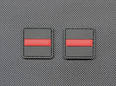 Thin Red Line 3D PVC Ranger Eye Patch Set Firefighter EMT Rescue Velcro