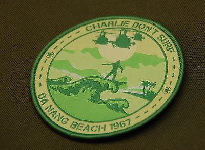 Charlie Don't Surf Da Nang Beach 1967 Morale Patch