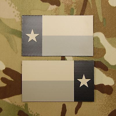 Infrared Texas State Flag Patch Set