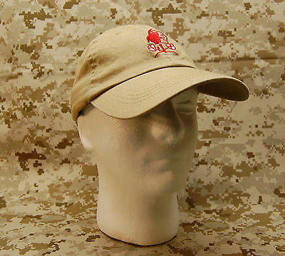 NSWDG Red Squadron Tan Baseball Cap