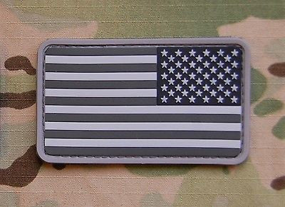 USA US Stars & Stripes Reverse Flag Patch MilSpec SWAT ACU Velcro PVC Patch