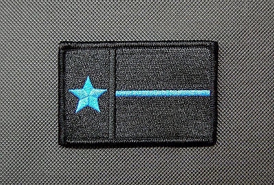 Texas Thin Blue Line State Flag Morale Patch