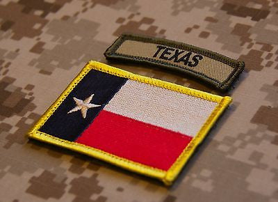 Texas State Flag & Multicam Texas Tab Patch Set