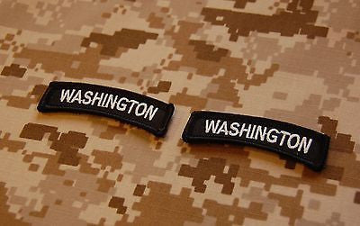 Washington State Tab Patch Set - Black & White