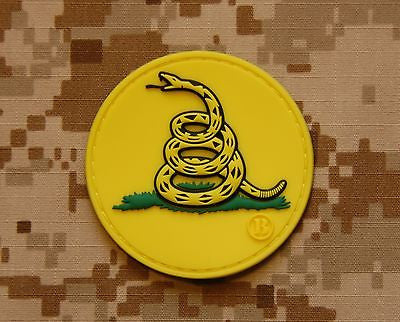 Gadsden Flag Don't Tread On Me 3D PVC Morale Patch