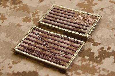 NWU Type II Reverse US Flag & First Navy Jack Uniform Patch Set