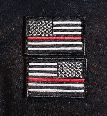 Thin Red Line United States Flag Patch Set - Velcro