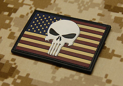 USA Flag 3D PVC Morale Patch